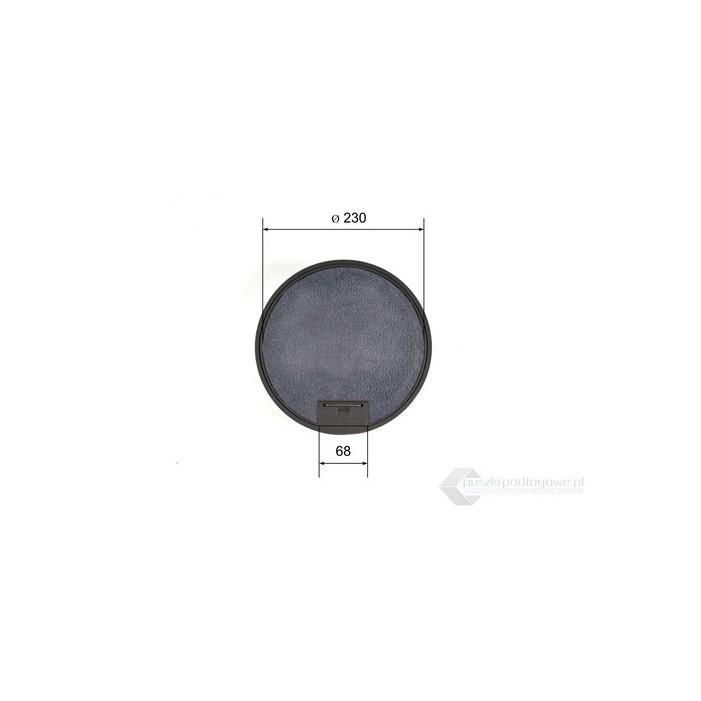 Puszka podłogowa okrągła do wykładziny na 6 gniazda M45