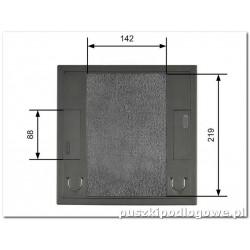 Floorbox do wykładziny dywanowej228/228 mm na 8 gniazda M45