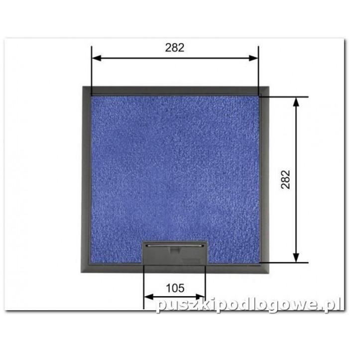 Floorbox do wykładziny 294/294 mm na 8 gniazda M45