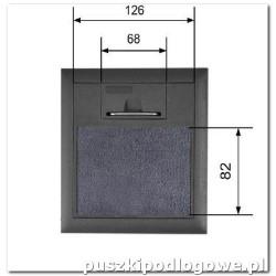 Puszka podłogowa na 2 gniazda podłoga 35-50 mm