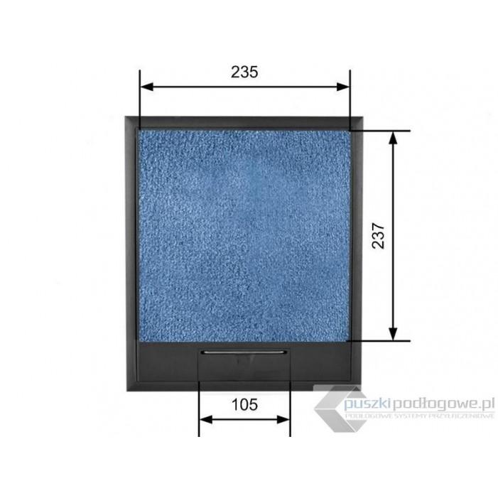 Puszka podłogowa na 10 gniazd podłoga 35-50 mm