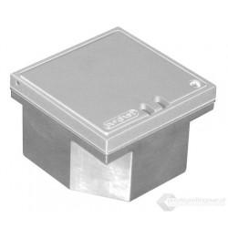 Floorbox 3295-1E-PLA, aluminiowa z dekielkiem uchylnym , anodowana na naturalne aluminium