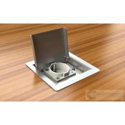 Floorbox 3301-EnwPL ,metalowa, 1 gniazdo zasilające +2xRJ45 Cat 6.