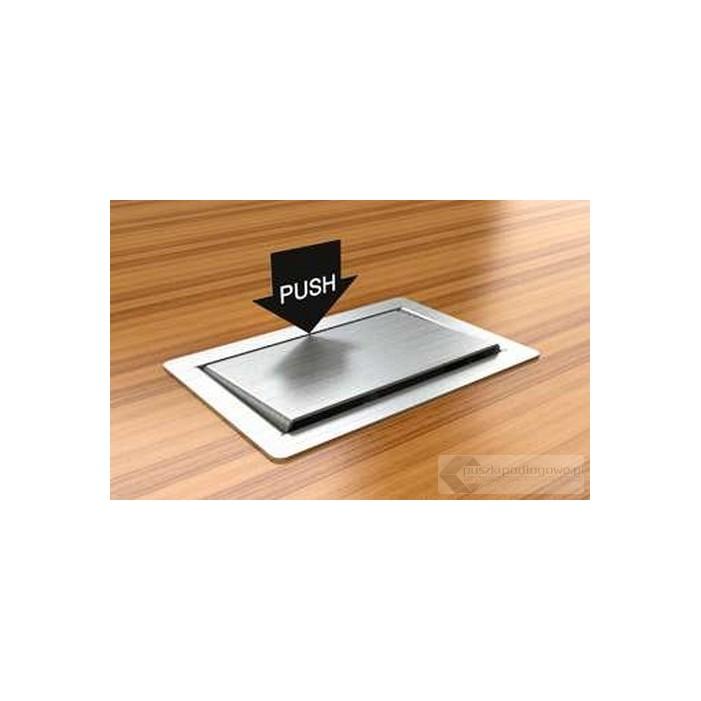 Puszka podłogowa 3302-EPL ,metalowa, 2 gniazda instalacyjne