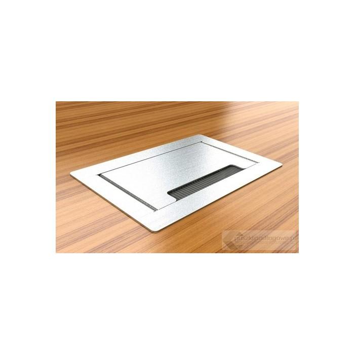 Floorbox 4403-EnwPL , metalowa, 2 gniazda zasilające + 2xRJ45