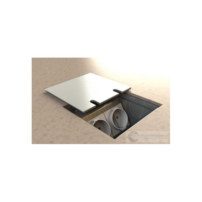 Floorbox 8802-AnwPL , 1 gniazdo zasilające +2xRJ45 Cat 6.