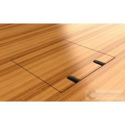 Floorbox 8802-BnwPL , 1 gniazdo zasilające +2xRJ45 Cat 6.