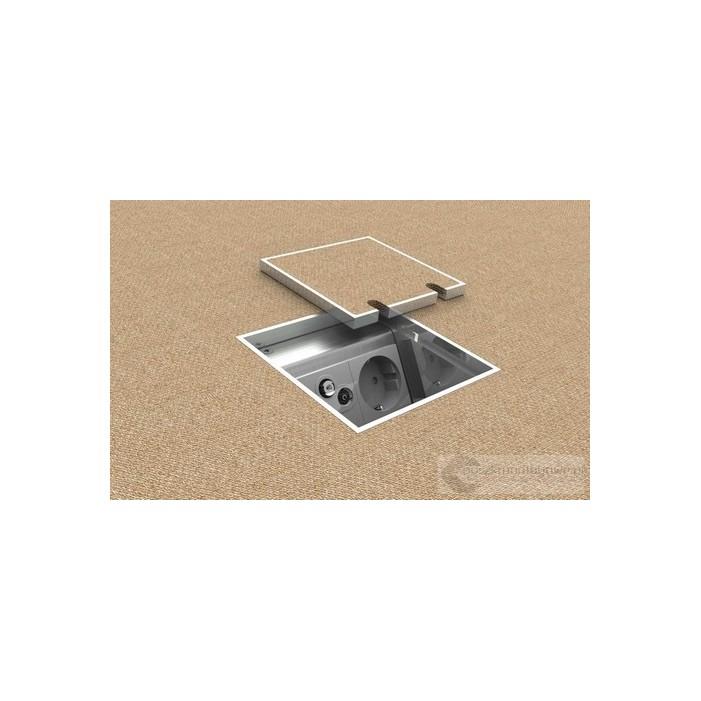 Floorbox 8802-TnwPL , 1 gniazdo zasilające +2xRJ45 Cat 6.