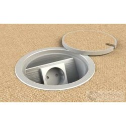 Floorbox 9901-APL , 1 gniazdo zasilające okrągła