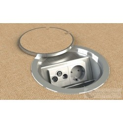 Floorbox 9902-AnwPL , 1 gniazdo zasilające +2xRJ45 Cat 6.