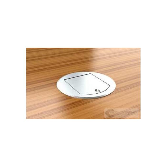 Floorbox okrągły 8601-AnwPL , 1 gniazdo zasilające +1xRJ45 Cat 6.