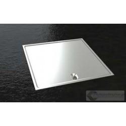 Floorbox z aluminiowym wiekiem 8702-APL , 2 gniazda zasilające