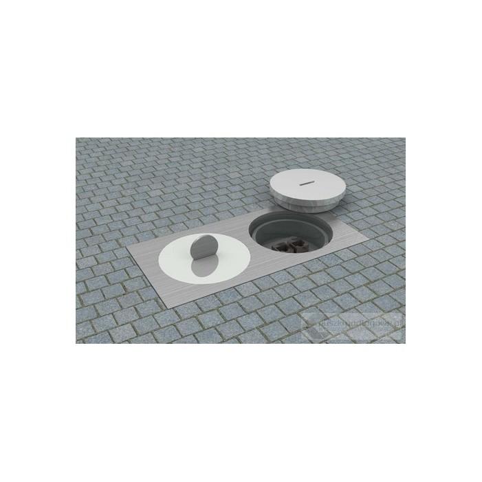 Floorbox 7602-APL , IP67 podwójna na 2 gniazda zasilające