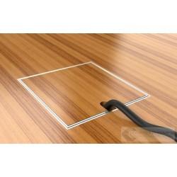 Puszka podłogowa ze stali nierdzewnej 1xRTV SAT, parkiet/panele/deska/gres/terakota, do betonu.