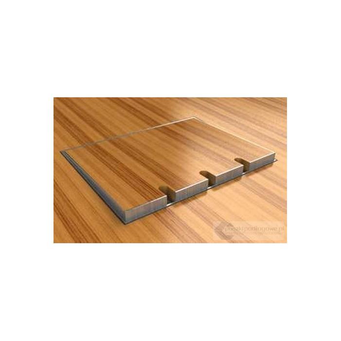 Floorbox 8903-BnwPL, poziomowana, 2 gniazdo zasilające +2xRJ45 Cat 6, nierdzewka