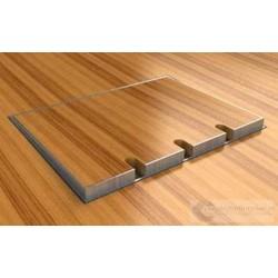 Puszka podłogowa ze stali nierdzewnej 2x230V 1xRTV SAT, parkiet/panele/deska/gres/terakota, do betonu.