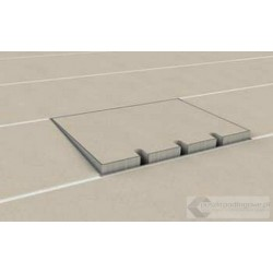 Puszka podłogowa ze stali nierdzewnej 3x230V 1xRTV SAT, parkiet/panele/deska/gres/terakota, do betonu.