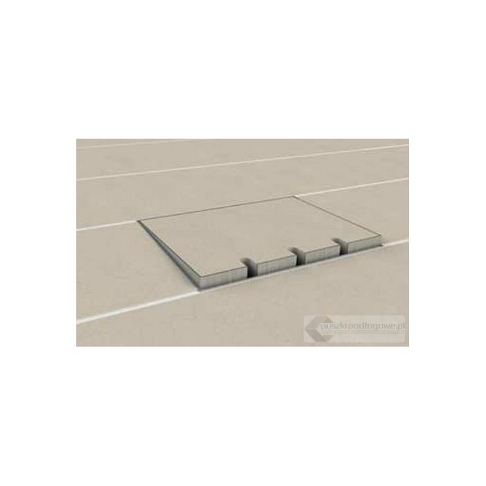 Puszka podłogowa 8904-BnwPL-2, poziomowana, 3 gniazdo zasilające +1x gniazdo antenowe, nierdzewka