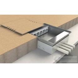 Floorbox 8808-TPL, do wklejenia twardej wykładziny lub paneli, 8 gniazd zasilających.