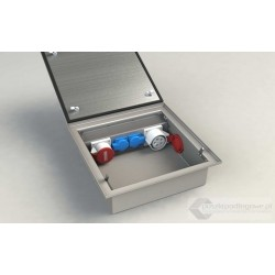 Floorbox BT-4022, 1 x 32A/400V, 1 x 16A/400V, 2 x 230V, nierdzewka, IP54