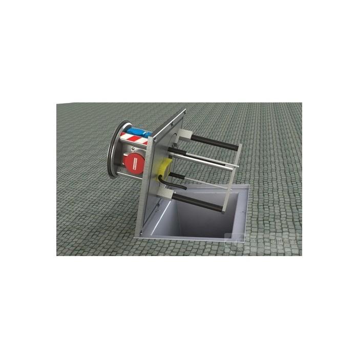 FLoorbox wysuwany z gniazdem trójfazowym SV-016, 1xCEE 16A/400V + 6x 16A/230V