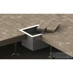 Floorbox z ramką dociskową 1xRTV SAT do deski lub parkietu