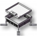 Puszka podłogowa ze stali nierdzewnej na 12 gniazd M45, parkiet/panele/gres, beton.