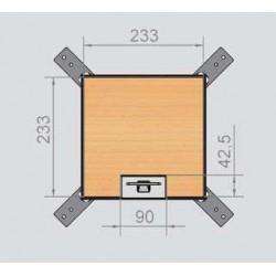 Puszka podłogowa na 6 gniazd M45, parkiet/panele/gres, podłoga podniesiona.