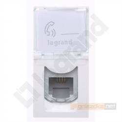 Gniazdo telefoniczne RJ11 M45 biały Legrand Mosaic M45