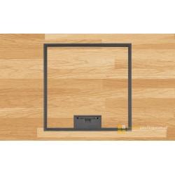 Puszka podłogowa na 6 gniazd M45, parkiet/panele/gres, beton.