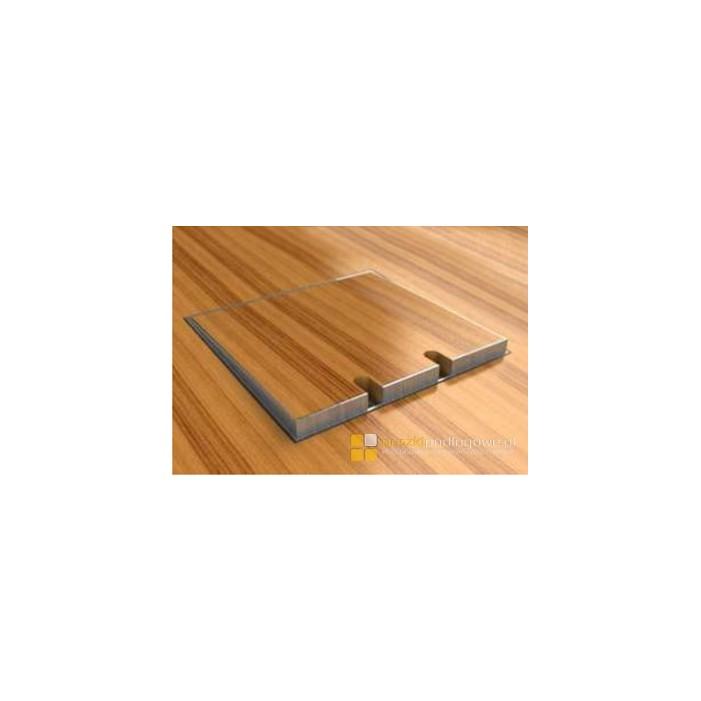 Puszka podłogowa BR0892 poziomowana, 1 gniazdo zasilające +2xRJ45 Cat 6, nierdzewka