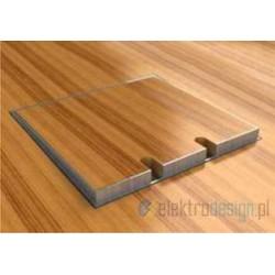 Puszka podłogowa ze stali nierdzewnej 1x230V 1xRTV SAT, parkiet/panele/deska/gres/terakota, do betonu.