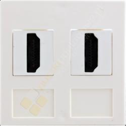 Gniazdo HDMI podwójne przelotowe
