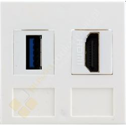 Gniazdo HDMI + USB 3.0 przelotowe