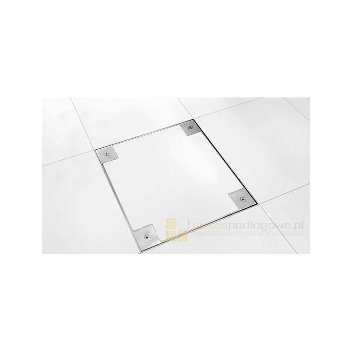 Puszka rewizyjna podłogowa 50x50cm standard, nierdzewka.