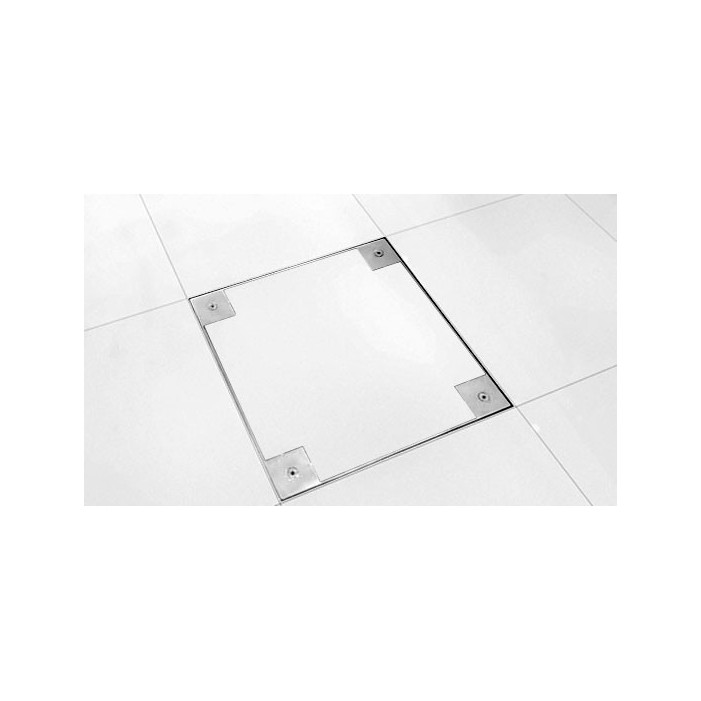 Floorbox na przyłącze 90x90cm standard, nierdzewka.