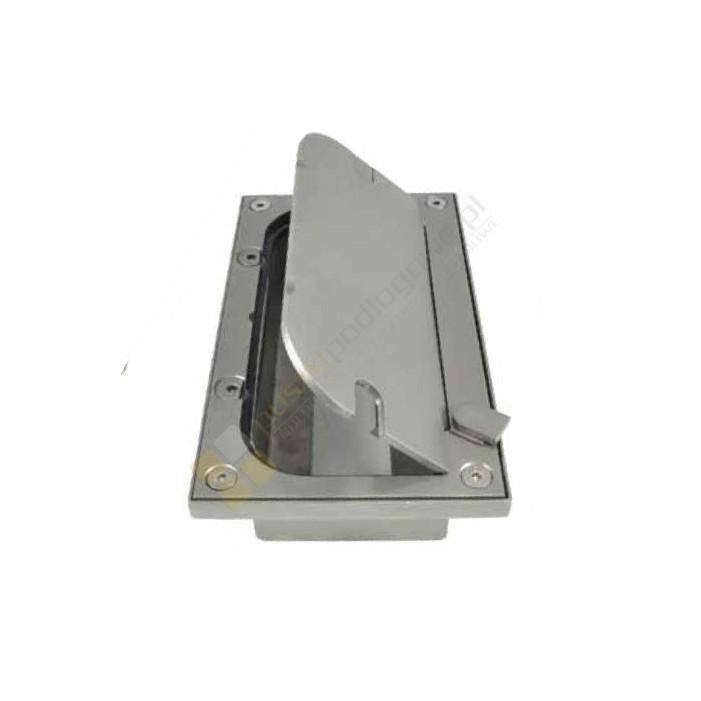 Skrzynka podłogowa nierdzewna 168x300mm