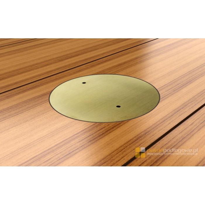 Floorbox mosiężny z 1 gniazdem 7701-MPL