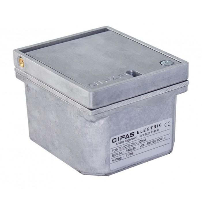 Floorbox 2295-1-PLA, aluminiowa, o mocnej konstrukcji, z wycięciem na kabel, pusta, aluminium naturalne, nielakierowane