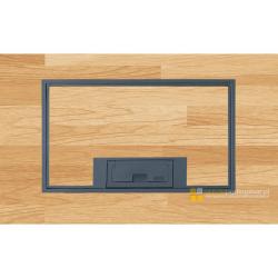 Puszka podłogowa na 4 gniazda M45, parkiet/panele/gres, beton.